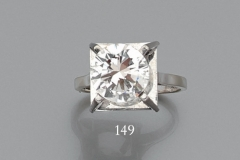 Bague Diamant - 3,42 carats I  VS2 - Adjugé : 22.500€