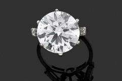 Bague Diamant rond - 9,11 carats   G  VS1 - Adjugé : 170.000€