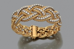Boucheron - Bracelet or jaune diamants - Adjugé : 15.500€