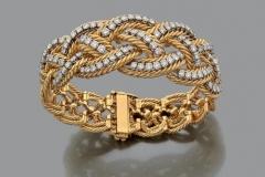 Boucheron - Bracelet or jaune diamants - Adjugé : 15.500€