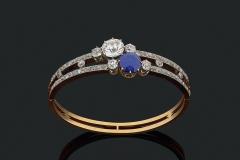 Bracelet Diamant Saphir - Adjugé : 29.000€