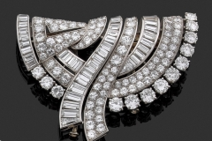 Boucheron - Broche Diamants - Vers 1950 - Adjugé : 15.500€
