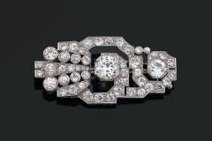 Broche Diamants - Vers 1930 - Adjugé : 23.000€
