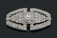 Broche Diamants - Vers 1930 - Adjugé 26.000€