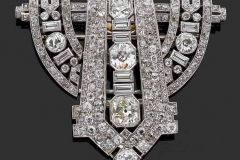 Broche Diamants - Vers 1930 - Adjugé : 16.000€