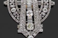 Broche Diamants - Vers 1930 - Adjugé : 16.000€