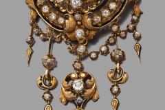 Broche Diamants - XIXe siècle - Adjugé : 7.200€