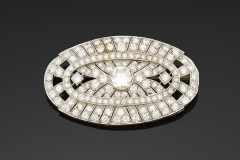 Broche Diamants  - Vers 1930 - Adjugé : 5.200€