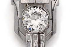 Clip de revers platine Diamants - Vers 1930 - Adjugé : 15.000€