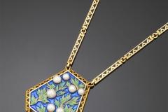 FALIZE - Collier or Email Perles - Adjugé : 42.000€