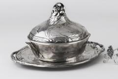 BOUCHERON et PEUREUX - Legumier couvert  - Vers 1900 - Adjugé :  6400€
