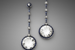 Paire de pendants d oreilles Saphirs Diamants - Adjugé : 89.000€