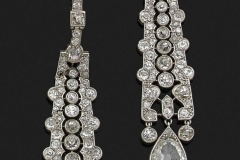 CARTIER - Paire pendants Diamants - Adjugé :  68.000€