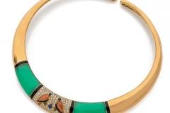 VAN CLEEF & ARPELS - Collier or Diamants Onyx - Vers 1970-1980 - Adjugé : 16.000€