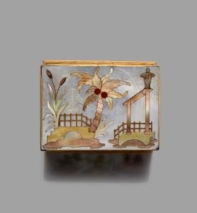 Boite montre a cage en or - Paris 1747 -  Michel de Lassus