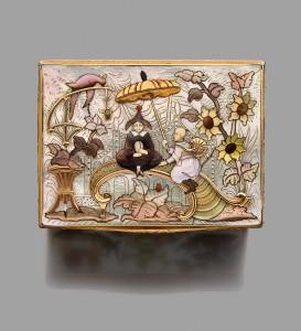 Boite montre a cage en or jaune Michel de Lassus Paris 1747