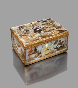 Boite a cage en or jaune - Paris 1787 Michel de Lassus