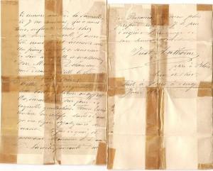 Lettre autographe signée Just Anthoine certifiant que cette boite a été donnée par le roi Louis XVI au gouverneur de la Bastille  M.Delaunay