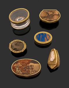 Boites et Tabatieres or et pierres precieuses