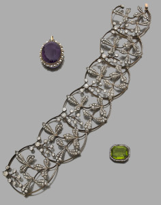 Collier Boucheron diamants XIX siecle