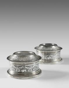 Paire de boites de  toilette - VALOGNES 1730 -1748 -  Maître Orfèvre : Jean-François JOBART