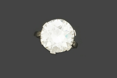 Bague Diamant - 8,62 carats F VS1 - Décembre  2015 - Adjugé : 190.000€