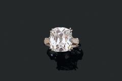 Bague Diamant Coussin - 5,70 carats G VS2  - Mars 2015 -  Adjugé : 150.000€