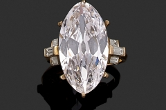 Bague Diamant Navette - 11,25 carats D VS1- Décembre 2016 - Adjugé :  705.000€
