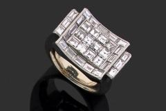 Bague Platine Diamants - Adjugé : 9.500€