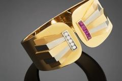 Bracelet or Diamants Rubis - Adjugé : 6.600€