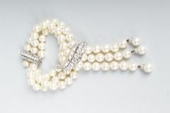 Van Cleef & Arpels - Bracelet perle de culture diamants - Adjugé : 17.500€