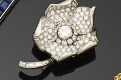 Boucheron - Broche  diamants - Adjugé :  6.200e
