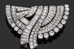 Boucheron - Broche Diamants - Vers 1950 - Adjugé : 15.500€