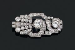 Broche Diamants - Vers 1930 - Adjugé : 23.000€