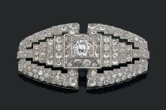 Broche Diamants - Vers 1930 - Adjugé 26.000€