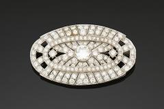 Broche Diamants  - Vers 1930 - Adjugé : 5.200€