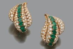 GERARD - Paire de Boucles d'oreilles Diamants Emeraudes - Adjugé : 12.000€