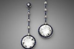 Paire de pendants d oreilles Saphirs Diamants - Adjugé : 89.000€